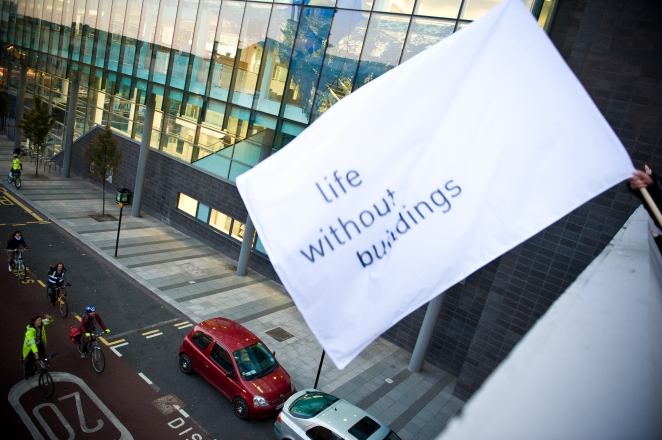 Flagging Life Without Buildings