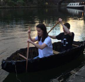 Sheaf+Barley row a boat they built