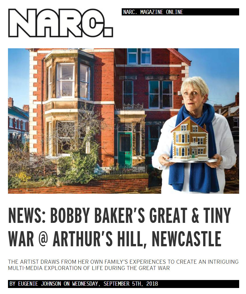 NARC. NEWS: BOBBY BAKER'S GREAT & TINY WAR @ ARTHUR'S HILL, NEWCASTLE