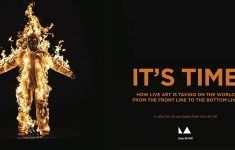 It's time graphic with artist on fire
