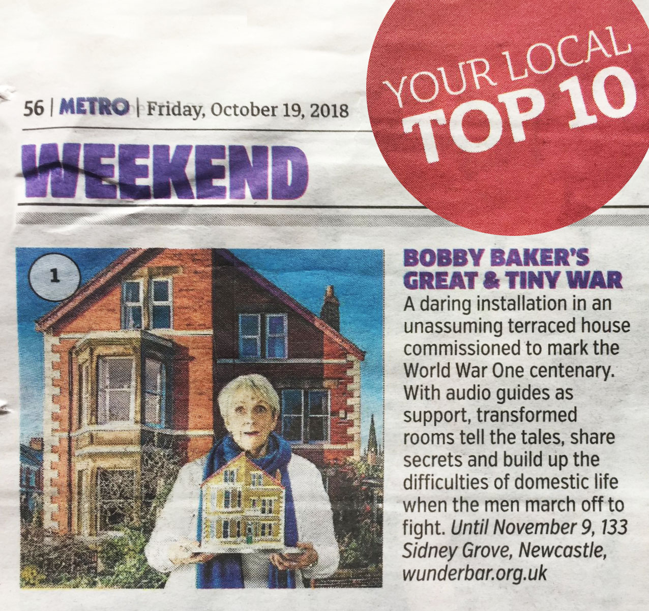 The Metro - Weekend No.1 - Your local top 10