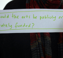 Should the arts be publicly or privately funded?